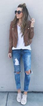 Women's white sneakers outfit 07