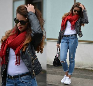 Women's white sneakers outfit 102