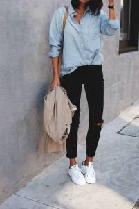 Women's white sneakers outfit 51