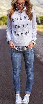 Women's white sneakers outfit 54