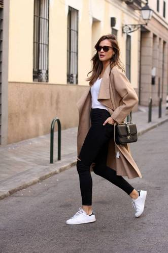 Women's white sneakers outfit 85