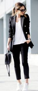Women's white sneakers outfit 87
