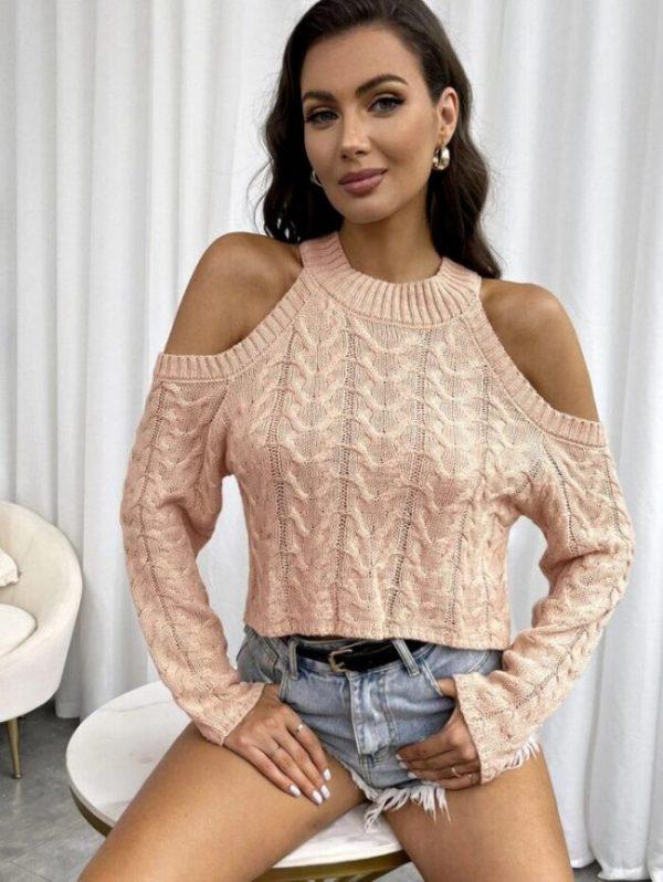2071 5 дамска плетена блуза e1633853720627