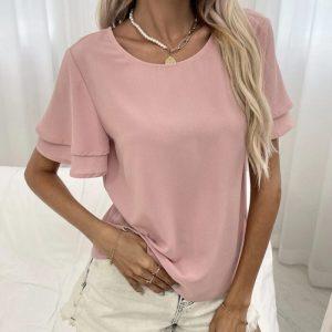 Блуза в розов цвят