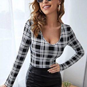Блуза в черно и бяло