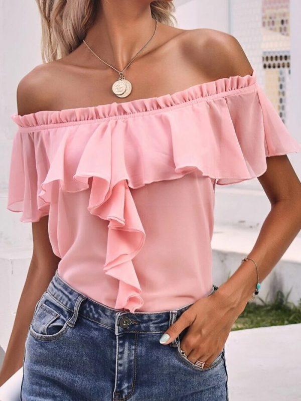 Дамски топ в розов цвят