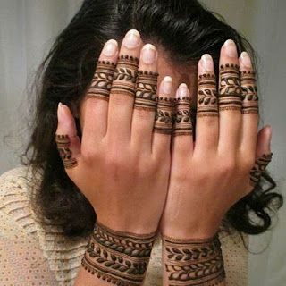 fingers and wrist only back hand mehndi designs