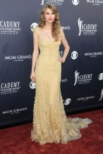 She wore a gown by Elie Saab Couture to the Academy Of Country Music Awards in Las Vegas.