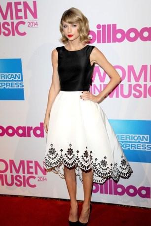 She teamed an Oscar de la Renta dress with Christian Louboutin heels for the Billboard Women In Music Lunch in New York.