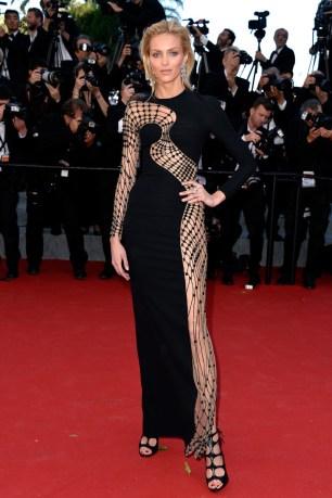 Anja Rubik in Versace