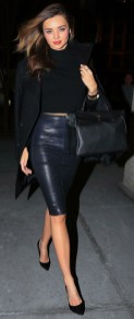 NEW YORK, NY - JANUARY 31: Miranda Kerr is seen in Downtown Manhattan on January 31, 2014 in New York City. (Photo by Alessio Botticelli/GC Images)
