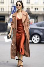 Le-Fashion-Blog-Fall-Blogger-Style-Sunglasses-Brown-Trench-Coat-Red-Long-Silk-Slip-Dress-Ankle-Tie-Heeled-Sandals-Via-Pop-Sugar