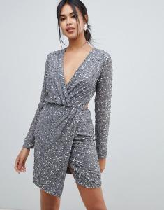 asos-design-Gray-Wrap-Front-Mini-Dress-In-Scatter-Sequin-With-Open-Back