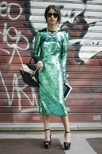 Sequin green