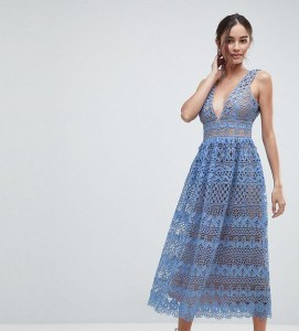 boohoo-designer-blue-Lace-Midi-Dress