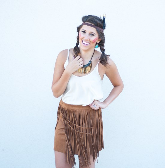 Pocahontas, Halloween, diy, costume, fallblog, fashion blogger, costume blog, dressupbuttercup