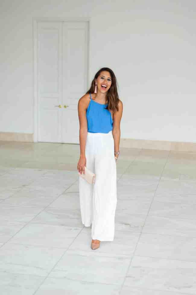 Dress Up Buttercup   Houston Fashion Blog - Dede Raad   Monday Wide Leg Blues