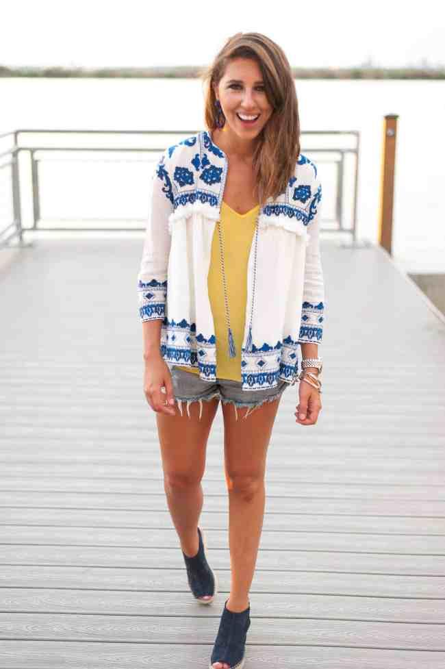 Dress Up Buttercup | Houston Fashion Blog - Dede Raad | Boho Blue & Yellow