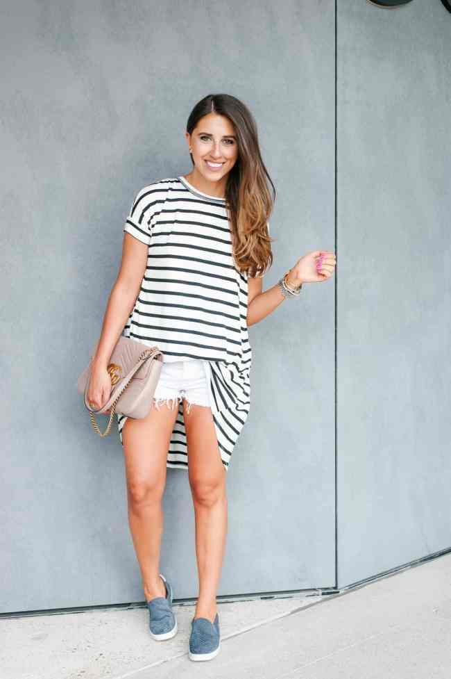 Dress Up Buttercup, Dede Raad, Houston blogger, fashion blogger, Stripe Hype, stripe t-shirt,