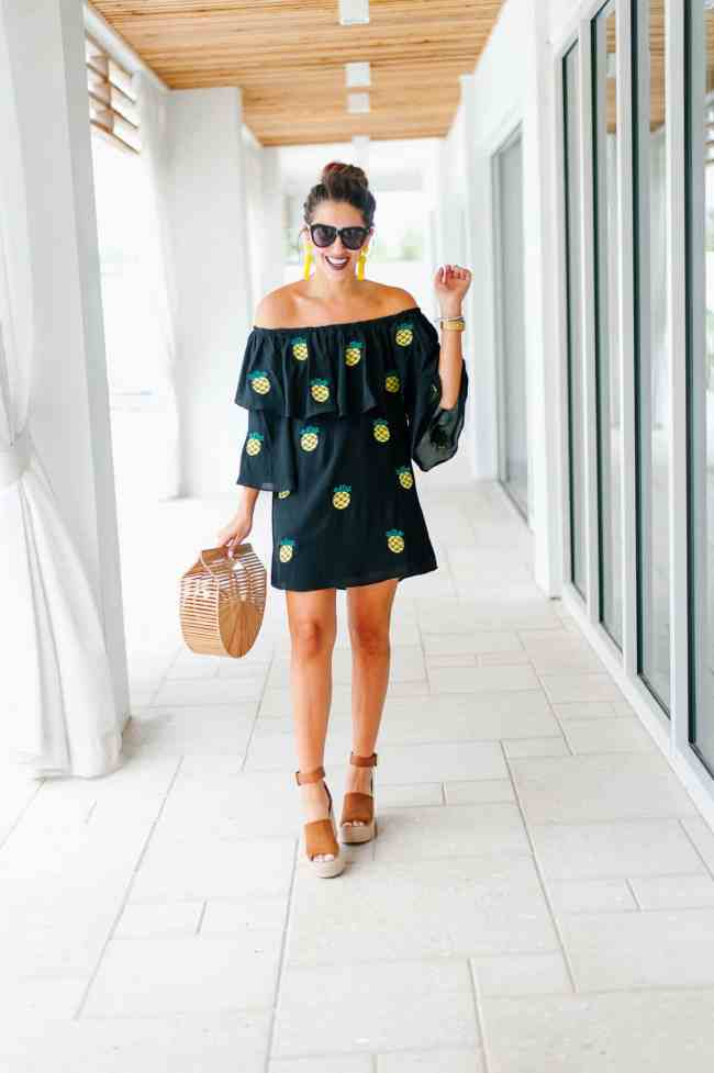 Dress Up Buttercup printed pineapple patches dress