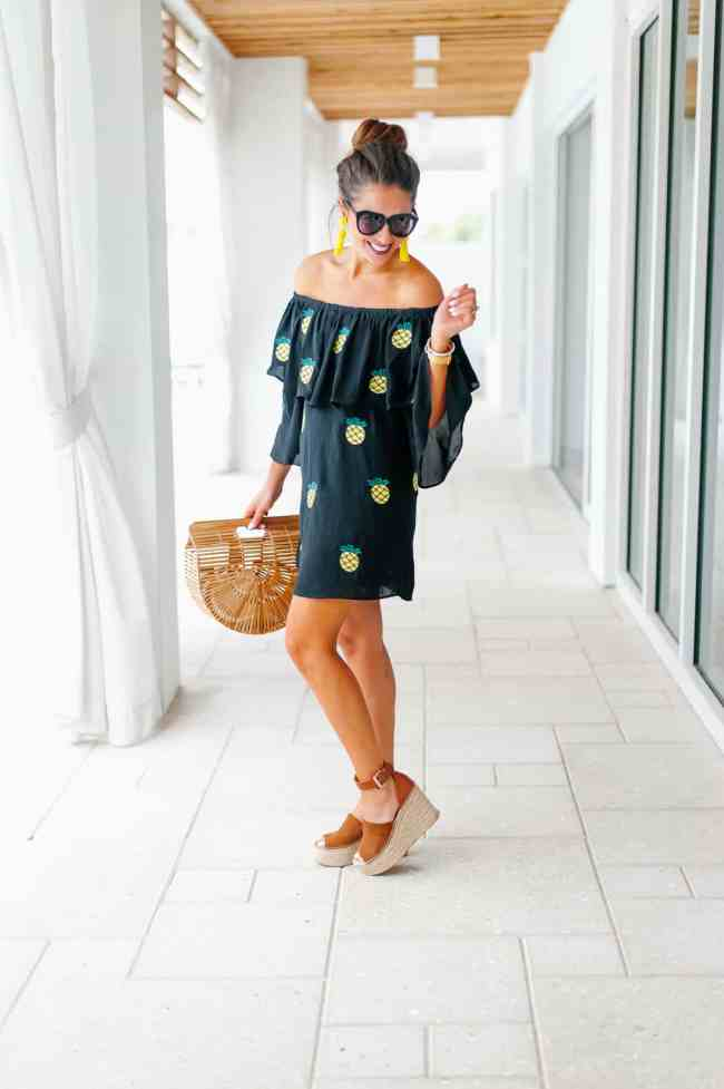 Dede Raad Pineapple vacation dress