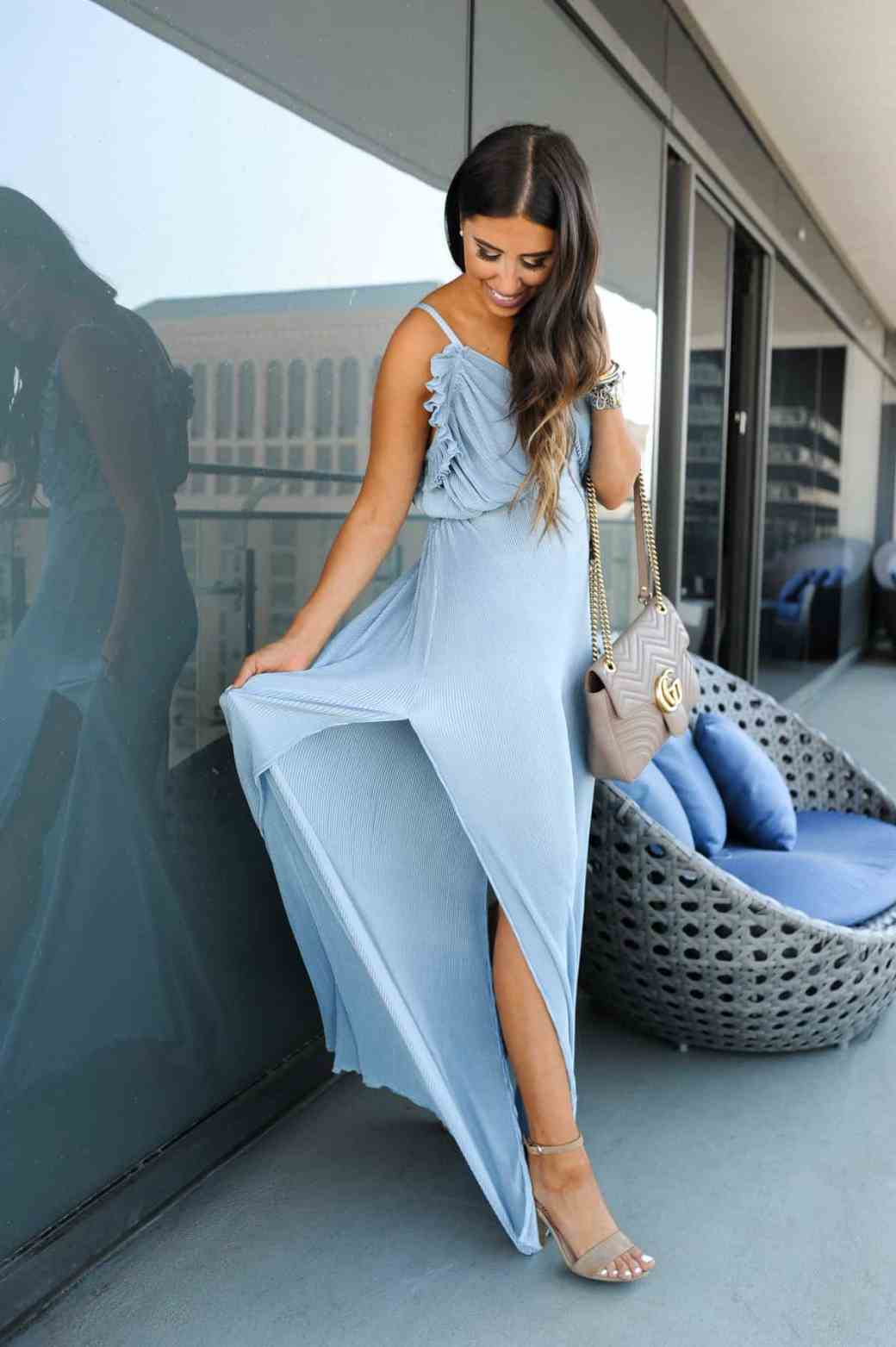 dress up buttercup 4 of 8 - Pleated Blue Maxi