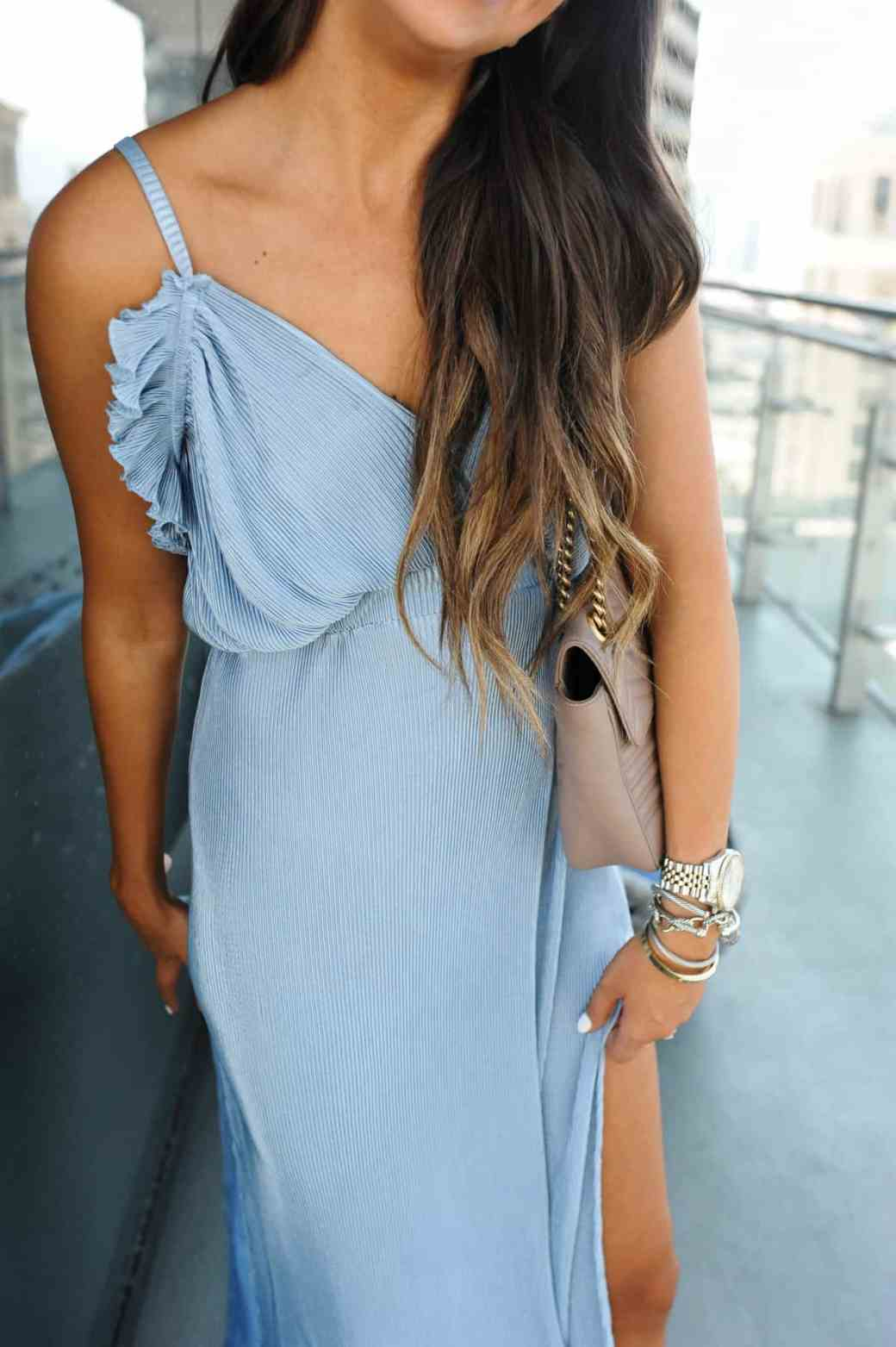 dress up buttercup 8 of 8 - Pleated Blue Maxi