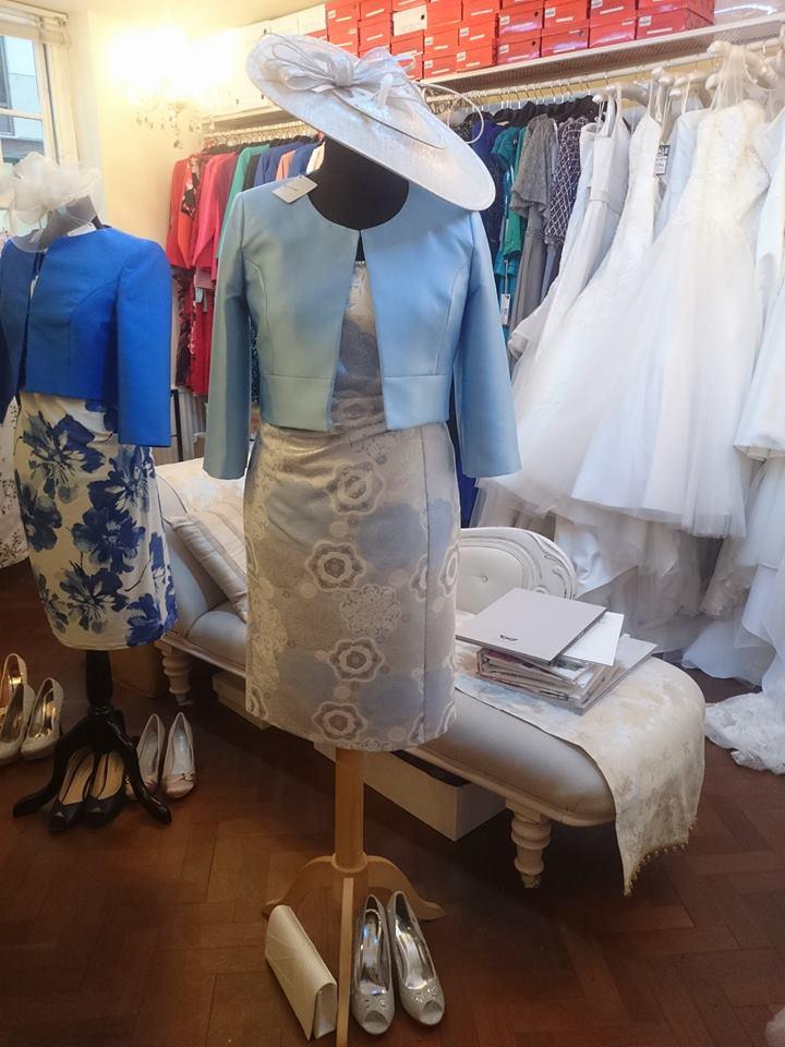 Light Blue Silver Amp White Dress Dressy Dresses