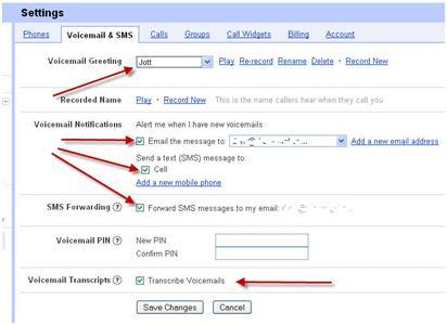 Google voice transcription drewvogel settings voicemail sms m4hsunfo