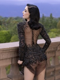 Dita Von Teese by Albert Sanchez for ELLE Men China [Photos] 006
