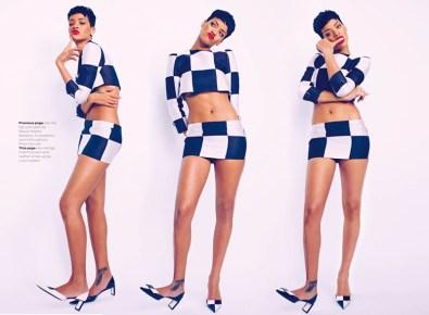 Sexy Rihanna Covers ELLE UK Magazine April 2013 [Photos] 01