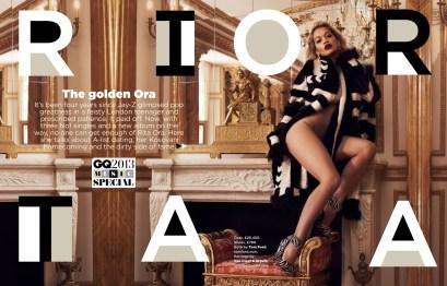 Rita Ora Topless for British GQ August 2013 - 01
