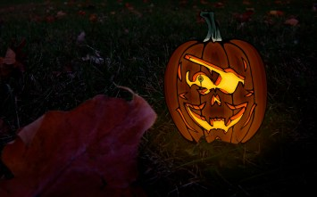 Jolly Roger-O-Lantern Wallpaper