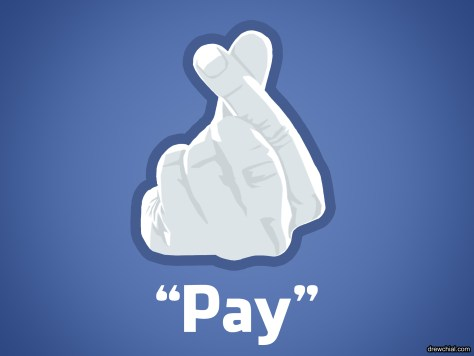 "Introducing the Facebook ""Pay"" button the only way authors can reach anyone"