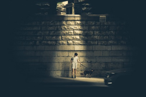 """(a boy out at night) """"Not Afraid of the Dark"""" a homily by Drew Downs"""