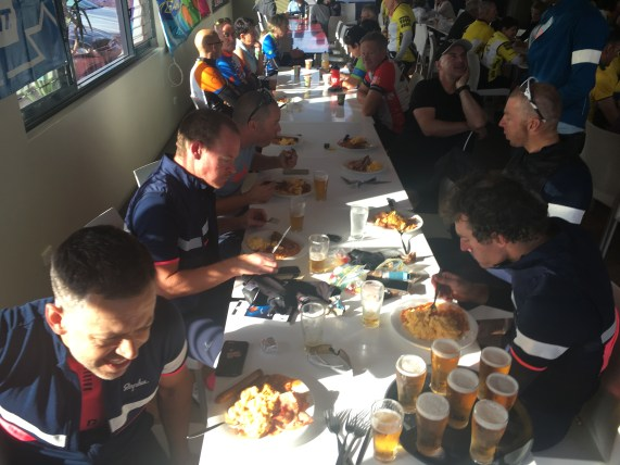 The breakfast was awesome and some beers really tasted quiet amazing at 9am. Only after a 24hrs of riding.