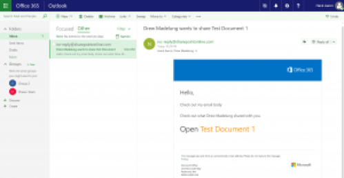 Sharing a File in SharePoint Online or OneDrive with