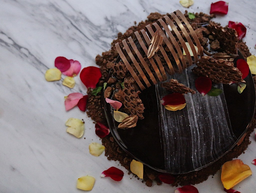 Fig and Honey Chocolate Entremet Cake Vancouver Catering