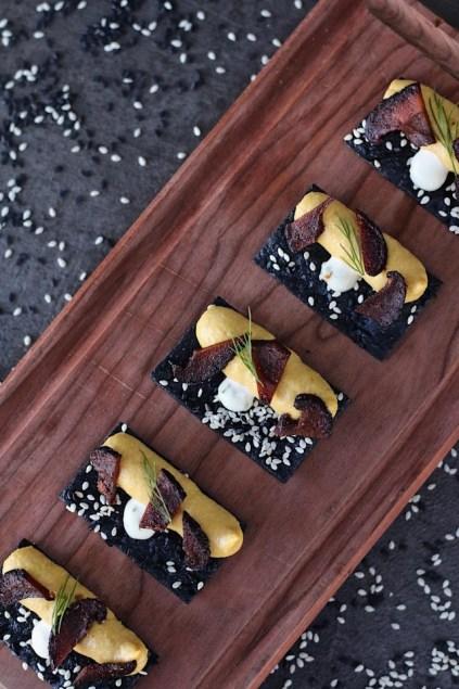 vegan canapés catering vancouver smoked kabocha cashew mousse
