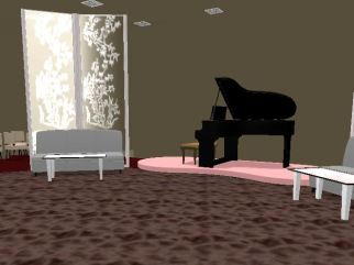 Using a floor plan, the students were able to place each of the virtual objects in their rooms.