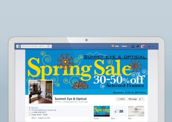 "Fashion Branded Retail in New Jersey :: branding and identity applications :: Facebook Banner ""Spring Sale"""