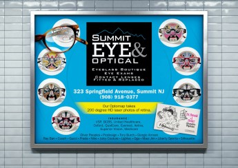 "Fashion Branded Eyewear Retail in New Jersey :: branding and identity applications :: Transit Poster ""Chinese Culture"""