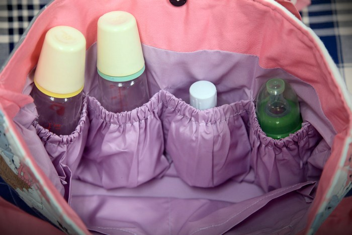 Green Baby Garden upcycling parent bag inner 4 bottle-partitions