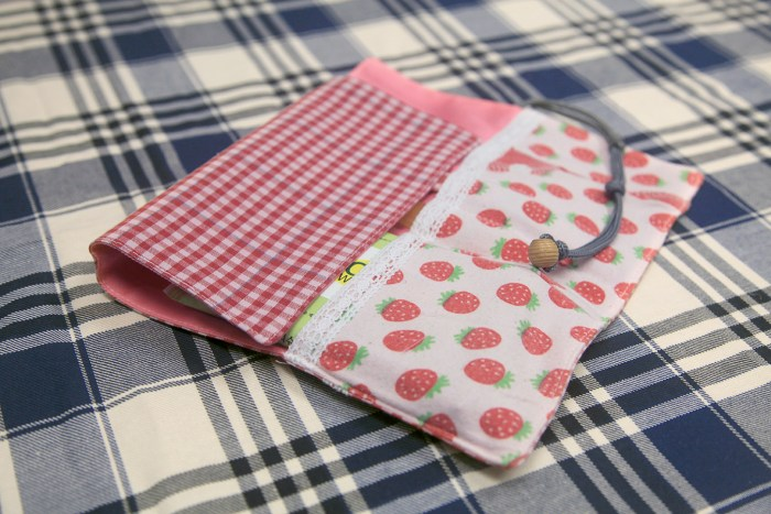 Green Baby Garden upcycling utensil wrapper inside ready for wrapping