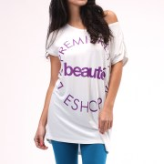 Fashion Online Brand based in Hong Kong and Dongguan :: Spring 2012 Beauté Tee in white
