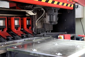 metal machinery close up bending cutting in Beijing factory | Leading Retail Renovation Brand – HTHY Group :: Photography of Factory for brand book