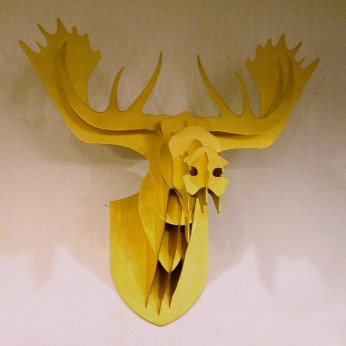golden skeleton structure cardboard deer head decoration heritage fixture display VMD in-store | British Fashion Denim Retail Brand - Lee Cooper in China :: retailing design and visual merchandising all shops props