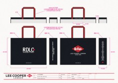 Lee Cooper in China :: retail design & retailing graphics ::large shopping bag