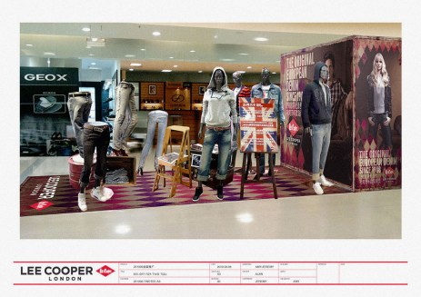 island display image graphics props Union Jack mannequins VMD, UK heritage | British Fashion Denim Retail Brand - Lee Cooper in China :: retail design & retailing graphics