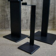 black raw steel height adjustable bag holder   British Fashion Retail Brand – Magnum London :: Visual Merchandising